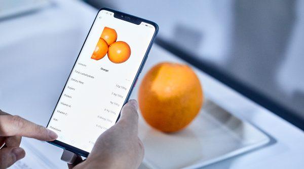 El mejor aliado para una dieta saludable: smartphone cuenta las calorías de los alimentos