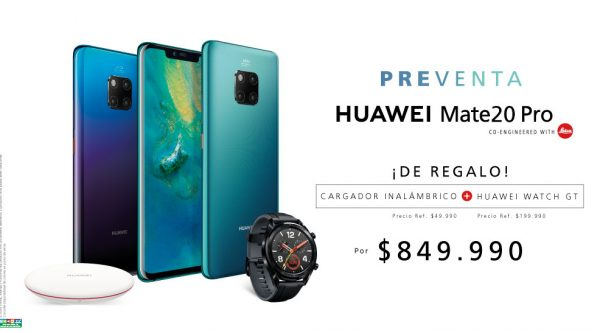 Confirman fecha de preventa del Huawei Mate 20 Pro en Chile
