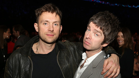 ¡Noel Gallagher y Damon Albarn son amigos!