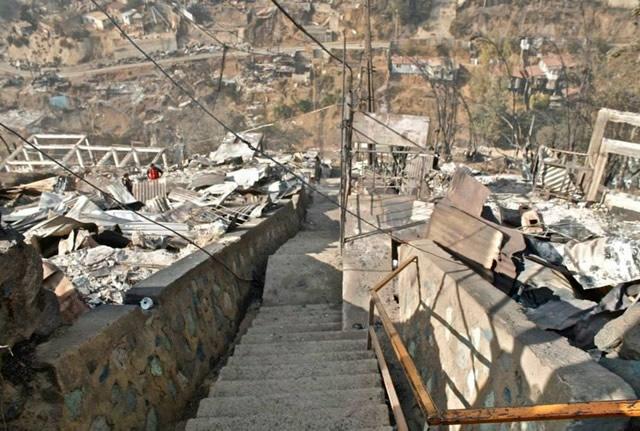 Incendio en Valparaíso: de miseria a destrucción