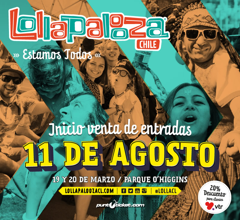 Lollapalooza Chile 2016 anuncia fecha y venta de entradas